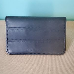 Vtg Coach Blue Leather Credit Card Wallet